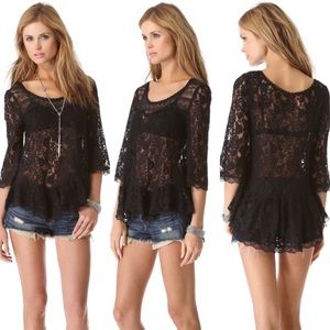 New Free people lilly lace top